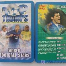 Baralhos de cartas: BARAJA DE CARTAS DE FÚTBOL TOP TRUMPS. LOS CRACKS 2005. CASILLAS, ZIDANE, RAUL, BECKHAM, KAKÁ. . Lote 20115129