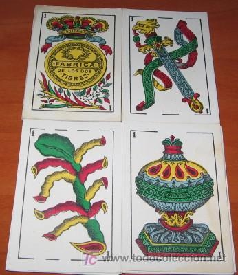 BARAJA FÁBRICA DE LOS DOS TIGRES, MARÍA GONZÁLEZ, CÁDIZ, DE 1936 (Juguetes y Juegos - Cartas y Naipes - Baraja Española)