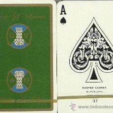 Barajas de cartas: CLUB DE GOLF VALLROMANAS VERDE BARAJA DE BRIDGE. Lote 20370177