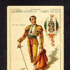 Barajas de cartas: CARTA DEL 12 DE ESPADAS DE LA BARAJA DE EL BARCO. TORERO, TOROS. Lote 20484041