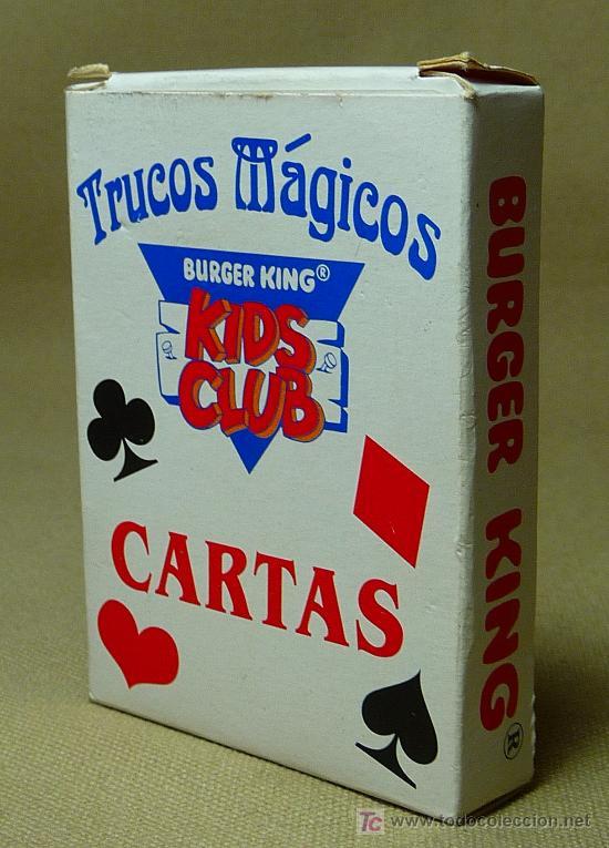 BARAJA INFANTIL, TRUCOS MAGICOS, PREMIUM, BURGUER KING, KIDS CLUB, (Juguetes y Juegos - Cartas y Naipes - Barajas Infantiles)