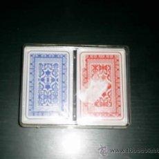 Barajas de cartas: LOTE DE 2 JUEGOS DE BARAJAS DE POKER SIN ESTRENAR EN SU CAJA CON SU PLASTICO. Lote 26347636