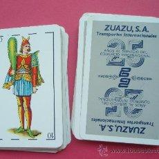 Barajas de cartas: JUEGO DE CARTAS PROPAGANDA DE LA CASA DE TRAMPORTES ZUAZU,S.A.. Lote 26492929