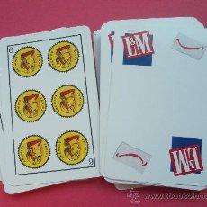 Barajas de cartas: BARAJA CON PROPAGANDA DE LA CASA L&M. Lote 26492921
