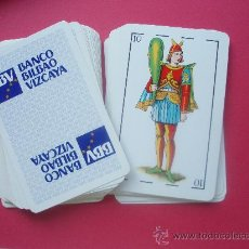 Barajas de cartas: BARAJA CON PROPAGANDA DEL BANCO BILBAO VIZCAYA. Lote 26492915