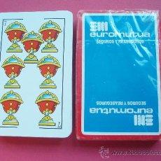 Barajas de cartas: BARAJA DE LA CASA DE SEGUROS EUROMUTUA. Lote 26492917