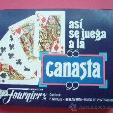 Barajas de cartas: ESTUCHE CON DOS JUEGOS DE BARAJAS TAMBIEN CONTIENELAS INSTRUCIONES PARA APRENDER A JUGAR. Lote 26492926