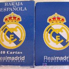 Barajas de cartas: BARAJA DE CARTAS ESPAÑOLA. REAL MADRID CLUB DE FÚTBOL. CALIDAD A+. 40 NAIPES. . Lote 20988535