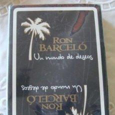 Jeux de cartes: BARAJA DE CARTAS ESPAÑOLA. FOURNIER. BEBIDAS. RON BARCELÓ UN MUNDO DE DESEOS. PRECINTADA. . Lote 21113819