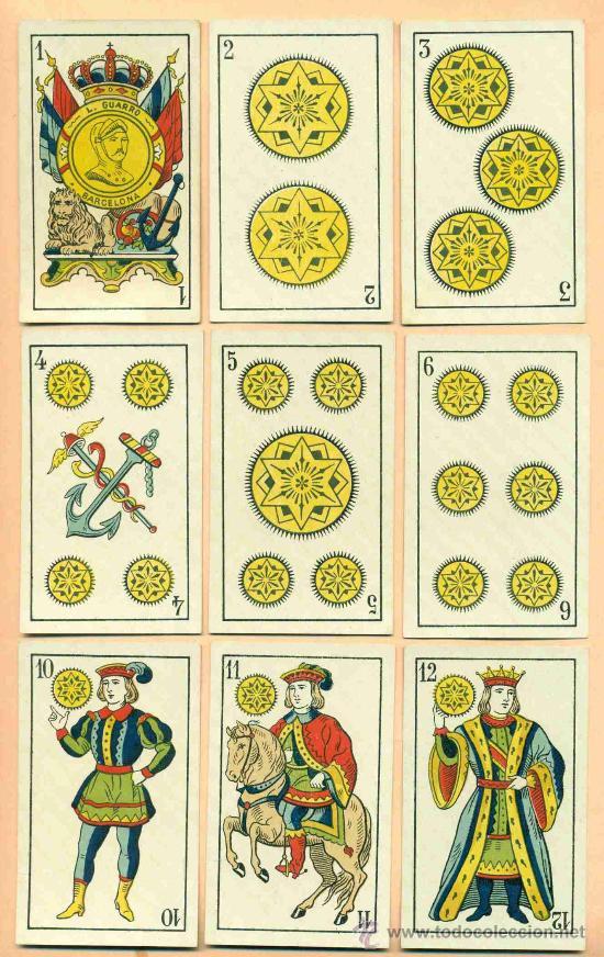 BARAJA ESPAÑOLA DE LUIS GUARRO (Juguetes y Juegos - Cartas y Naipes - Baraja Española)
