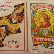 Barajas de cartas: BARAJA DE CARTAS ESPAÑOLA. FOURNIER. BRANDY SOBERANO. BEBIDAS. 40 NAIPES. . Lote 21642700
