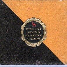 Barajas de cartas: ESTUCHE CON 2 BARAJAS DE CARTAS FRANCESAS. FINEST SWISS PLAYING CARDS. . Lote 23072831