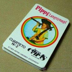 Barajas de cartas: BARAJA INFANTIL, PIPI, LANGSTRUMPF, NAIPES COMAS, CUARTETO Nº 2, 1975. Lote 21921040