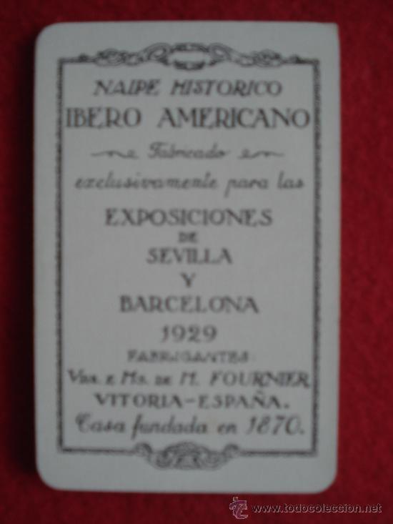 Barajas de cartas: NAIPE HISTORICO IBERO AMERICANO.BARAJA CONMEMORATIVA DEL DESCUBRIMIENTO Y COLONIZACION DE AMERICA - Foto 4 - 27456731