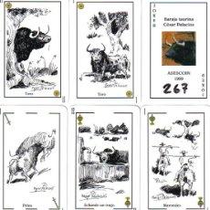 Barajas de cartas: BARAJA ESPAÑOLA TAURINA CESAR PALACIOS-AÑO 1999. Lote 51944050