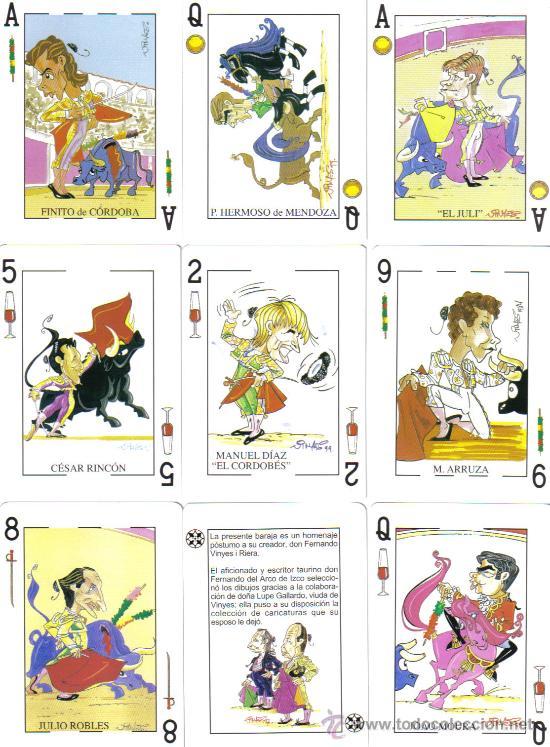 BARAJA TAURINA FERNANDO VINYES-AÑO 2005 (Juguetes y Juegos - Cartas y Naipes - Barajas de Póker)
