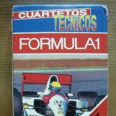 Barajas de cartas: BARAJA CUARTETOS TECNICOS FORMULA UNO - HERACLIO FOURNIER 1993 ¡¡¡COMPLETA 32+1 ¡¡¡. Lote 22656564