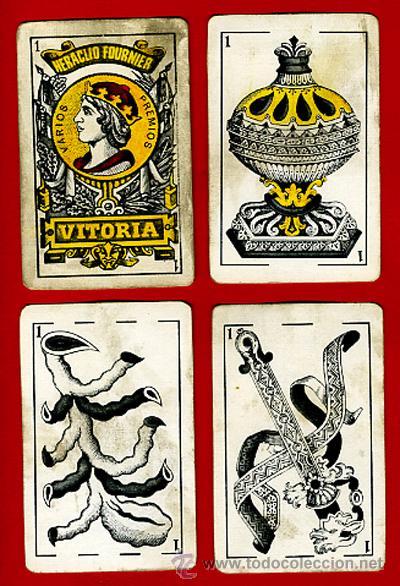 Barajas de cartas: BARAJA HERACLIO FOURNIER, CLASICA, RARA, ANTIGUA, 40 NAIPES, VER FOTOS ADICIONALES - Foto 3 - 27195645