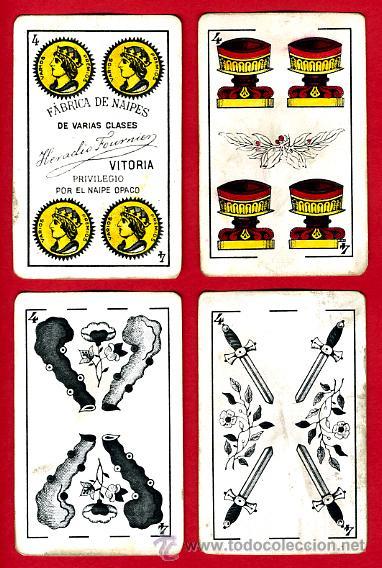 Barajas de cartas: BARAJA HERACLIO FOURNIER, CLASICA, RARA, ANTIGUA, 40 NAIPES, VER FOTOS ADICIONALES - Foto 6 - 27195645
