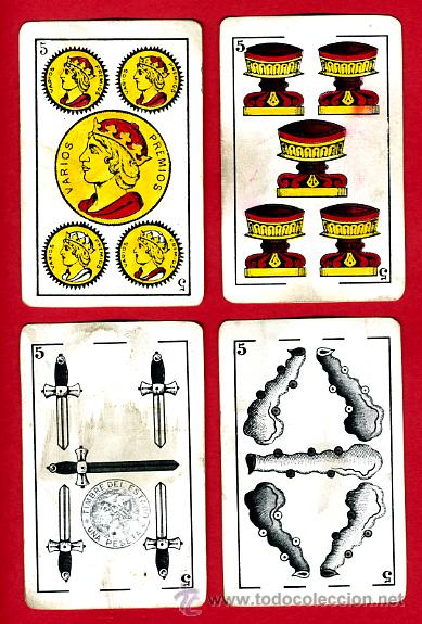 Barajas de cartas: BARAJA HERACLIO FOURNIER, CLASICA, RARA, ANTIGUA, 40 NAIPES, VER FOTOS ADICIONALES - Foto 7 - 27195645