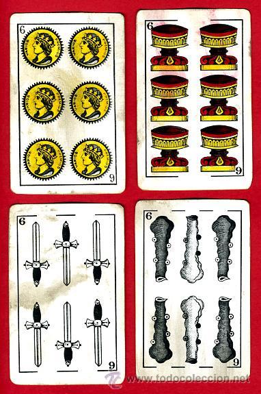 Barajas de cartas: BARAJA HERACLIO FOURNIER, CLASICA, RARA, ANTIGUA, 40 NAIPES, VER FOTOS ADICIONALES - Foto 8 - 27195645