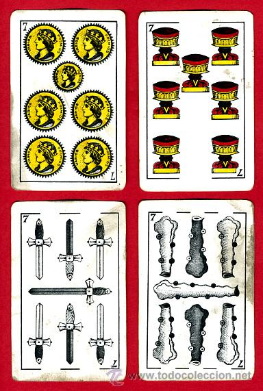 Barajas de cartas: BARAJA HERACLIO FOURNIER, CLASICA, RARA, ANTIGUA, 40 NAIPES, VER FOTOS ADICIONALES - Foto 9 - 27195645