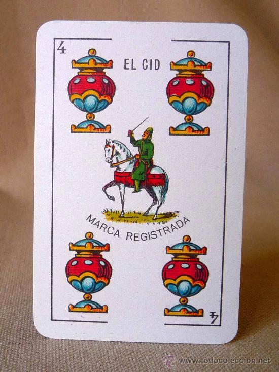 Barajas de cartas: BARAJA, NAIPES, ESPAÑOLA, SIMEON DURA, EL CID, Nº 25 CLASE ESPECIAL, TIMBRE DE 1,25 PESETAS, UNICA - Foto 9 - 23296640