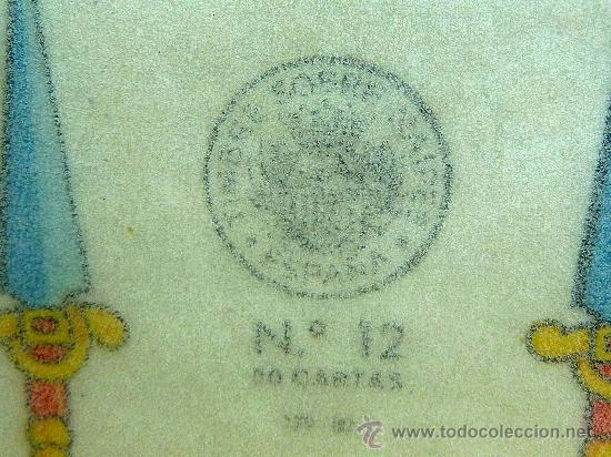 Barajas de cartas: BARAJA, NAIPES, ESPAÑOLA, FOURNIER, Nº 12, 50 CARTAS, TIMBRE DE NAIPES, SIN ABRIR, SIN USAR - Foto 6 - 23296773