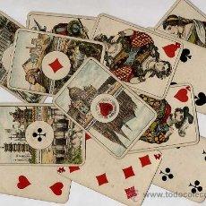 Barajas de cartas: ANTIGUA BARAJA. NAIPES. WHIST. 52 CARTAS CON SU ESTUCHE. SELLO DEL DEUTSCHES REICH. Lote 22906517