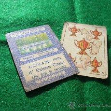 Barajas de cartas - BARAJA NAIPE CROMO CHOCOLATES CARTA FANTAIS SPORTS FUTBOL - 22935509