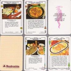 Barajas de cartas: BARAJA ESPAÑOLA GASTRONOMICA, 48 CARTAS + 2 COMODINES, BANKUNION.. Lote 27227093