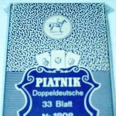 Barajas de cartas: BARAJAS DE CARTAS - - PIATNIK Nº 1808 -33 BLATT- DOPPELDEUTSCHE- IMPECABLE- IMPORTANTE LEER ENVIOS. Lote 23202948