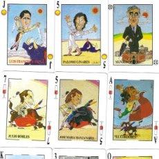 Barajas de cartas: BARAJA ESPAÑOLA CARICATURAS TAURINAS DIARIO YA-FOURNIER-AÑO 1980. Lote 27450939