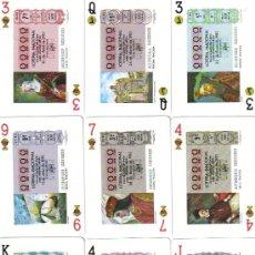 Barajas de cartas: BARAJA DESCUBRIMIENTO DE AMERICA DE LOTERIAS-FOURNIER-AÑO 1984. Lote 26366694