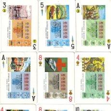 Barajas de cartas: BARAJA LOS TRASPORTES DE LOTERIA-FOURNIER-AÑO1980. Lote 26434101