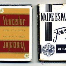 Barajas de cartas: BARAJA DE CARTAS DE HERACLIO FOURNIER - 40 CARTAS - CIGARRILLOS VENCEDOR. Lote 25696836