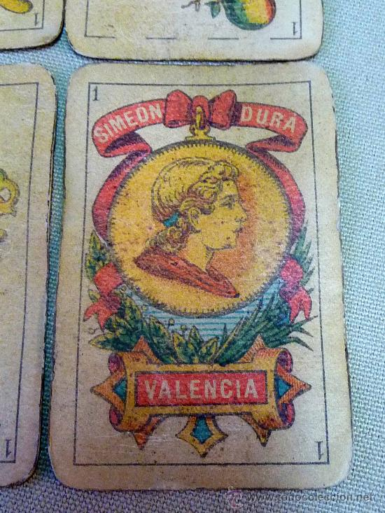 Barajas de cartas: BARAJA SIMEON DURA, VALENCIA, EL CID, Nº 26, TIMBRE 1,25 CENTIMOS, COMPLETA, DORSO ROJO, 40 NAIPES - Foto 8 - 24687047