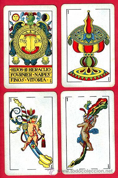 BARAJA ESPAÑOLA 1936 ,HIJOS DE HERACLIO FOURNIER, ORIGINAL, 40 NAIPES, VER FOTOS ADICIONALES (Juguetes y Juegos - Cartas y Naipes - Baraja Española)