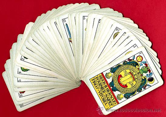 Barajas de cartas: BARAJA ESPAÑOLA 1936 ,HIJOS DE HERACLIO FOURNIER, ORIGINAL, 40 NAIPES, VER FOTOS ADICIONALES - Foto 2 - 27498852