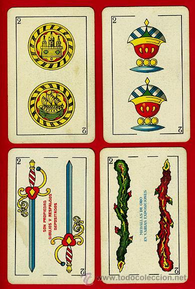 Barajas de cartas: BARAJA ESPAÑOLA 1936 ,HIJOS DE HERACLIO FOURNIER, ORIGINAL, 40 NAIPES, VER FOTOS ADICIONALES - Foto 4 - 27498852