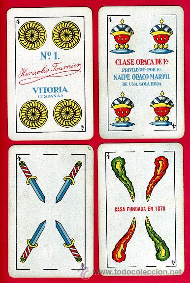 Barajas de cartas: BARAJA ESPAÑOLA 1936 ,HIJOS DE HERACLIO FOURNIER, ORIGINAL, 40 NAIPES, VER FOTOS ADICIONALES - Foto 6 - 27498852