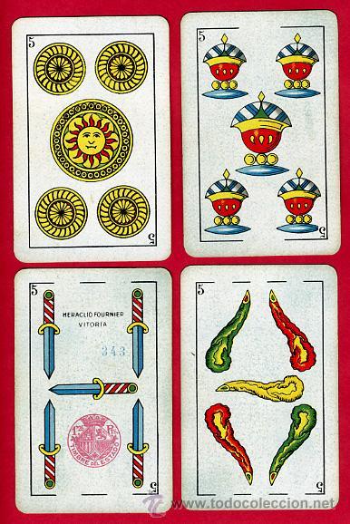Barajas de cartas: BARAJA ESPAÑOLA 1936 ,HIJOS DE HERACLIO FOURNIER, ORIGINAL, 40 NAIPES, VER FOTOS ADICIONALES - Foto 7 - 27498852