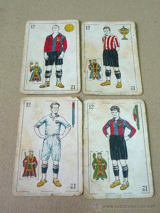 BARAJA DE FUTBOL, CROMOS, CHOCOLATES AMATLLER, INCOMPLETA, 1930S (Juguetes y Juegos - Cartas y Naipes - Baraja Española)