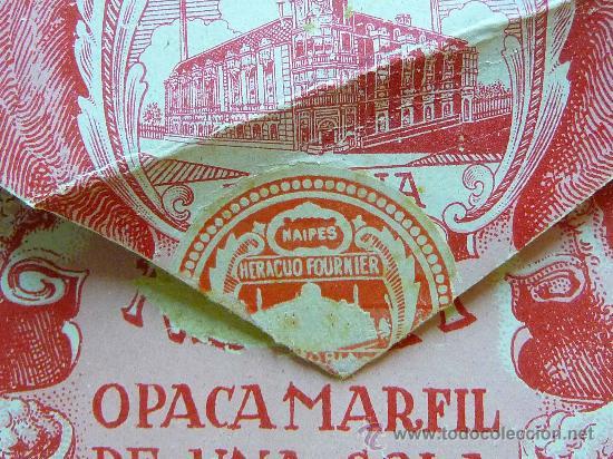 Barajas de cartas: ANTIGUO ESTUCHE, SOBRE, BARAJA ESPAÑOLA GIGANTE, Nº 111, HERACLIO FOURNIER, DE 50 NAIPES - Foto 5 - 24755670