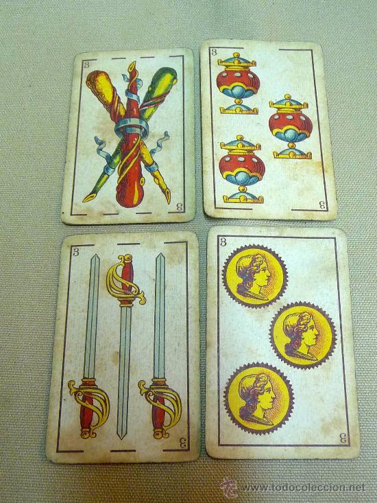 Barajas de cartas: ANTIGUA BARAJA SIMEON DURA, VALENCIA, TIMBRE 30 CENTIMOS, INCOMPLETA, DORSO ROJO, 31 NAIPES - Foto 2 - 24669216