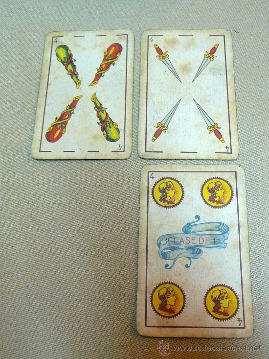 Barajas de cartas: ANTIGUA BARAJA SIMEON DURA, VALENCIA, TIMBRE 30 CENTIMOS, INCOMPLETA, DORSO ROJO, 31 NAIPES - Foto 3 - 24669216