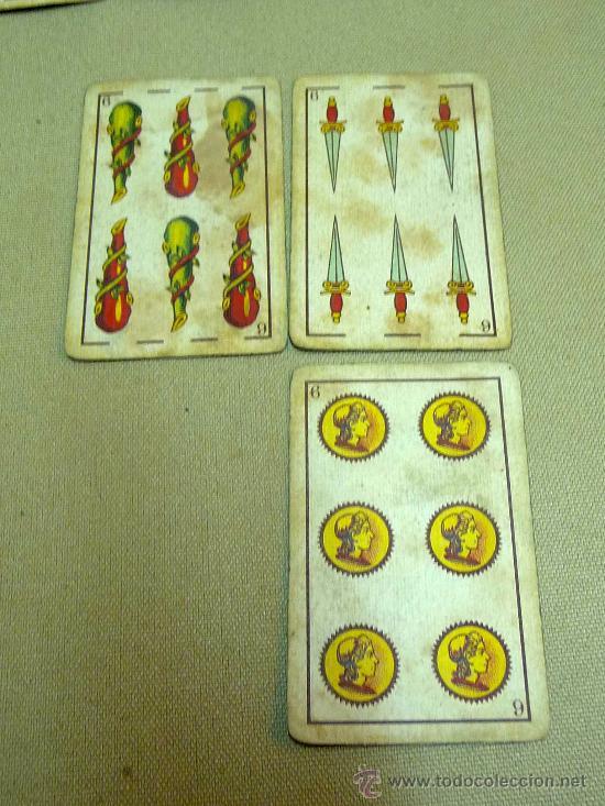 Barajas de cartas: ANTIGUA BARAJA SIMEON DURA, VALENCIA, TIMBRE 30 CENTIMOS, INCOMPLETA, DORSO ROJO, 31 NAIPES - Foto 5 - 24669216