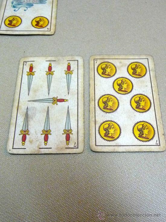 Barajas de cartas: ANTIGUA BARAJA SIMEON DURA, VALENCIA, TIMBRE 30 CENTIMOS, INCOMPLETA, DORSO ROJO, 31 NAIPES - Foto 6 - 24669216