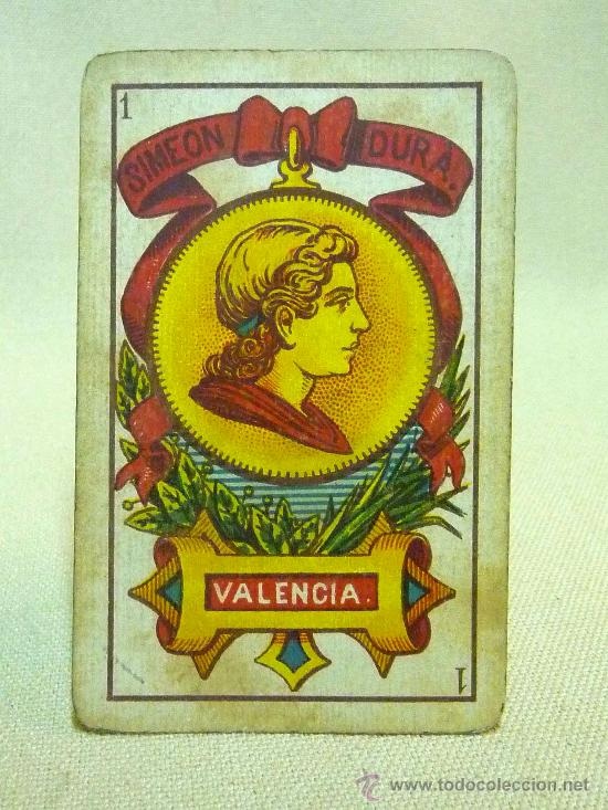 Barajas de cartas: ANTIGUA BARAJA SIMEON DURA, VALENCIA, TIMBRE 30 CENTIMOS, INCOMPLETA, DORSO ROJO, 31 NAIPES - Foto 18 - 24669216