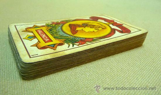 Barajas de cartas: ANTIGUA BARAJA SIMEON DURA, VALENCIA, TIMBRE 30 CENTIMOS, INCOMPLETA, DORSO ROJO, 31 NAIPES - Foto 19 - 24669216